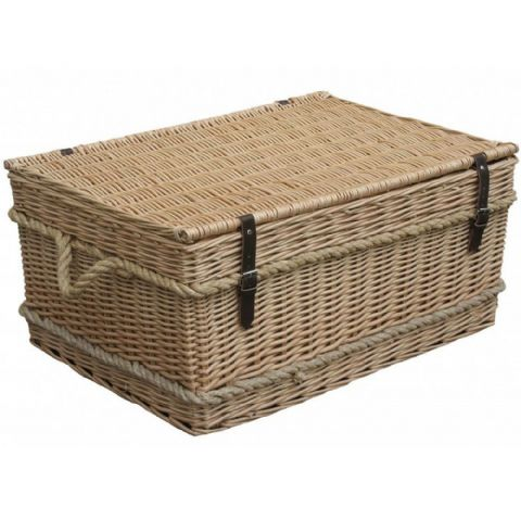 Dorset Light Wicker & Rope Storage Trunk Coffee Table 72cm